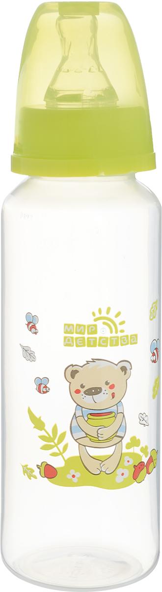 Мир детства Бутылочка с силиконовой соской от 0 месяцев цвет зеленый 250 мл