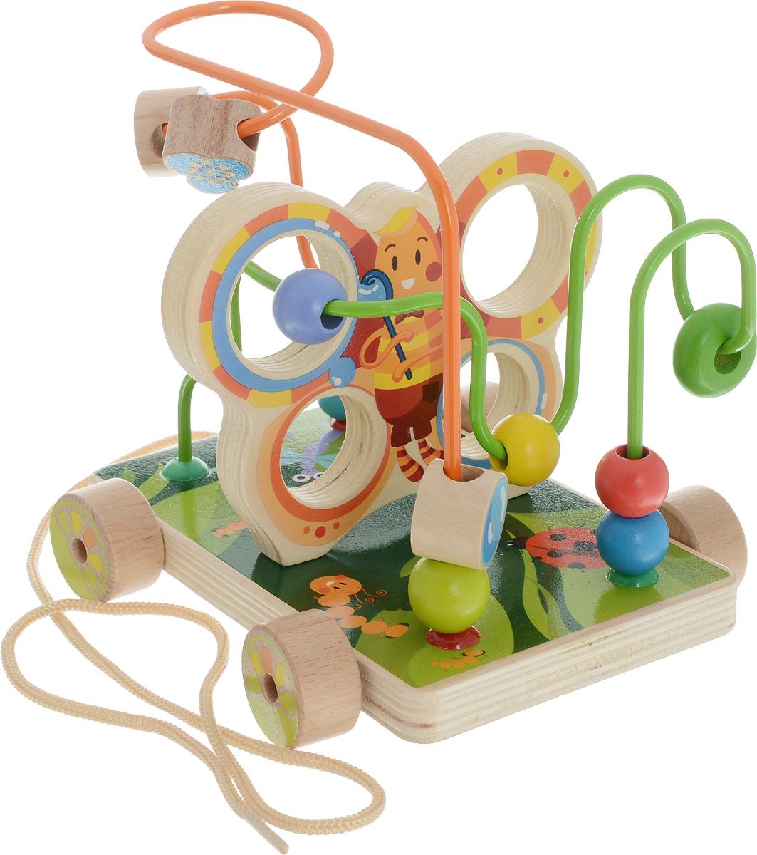 Мир деревянных игрушек Лабиринт-каталка Бабочка мир деревянных игрушек конструктор каталка полиция