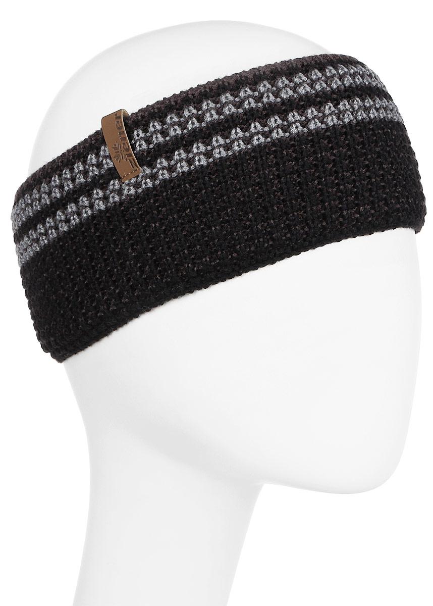 Повязка на голову Ziener Ilse Band, цвет: черно-серый. 170041-867. Размер универсальный170041-867