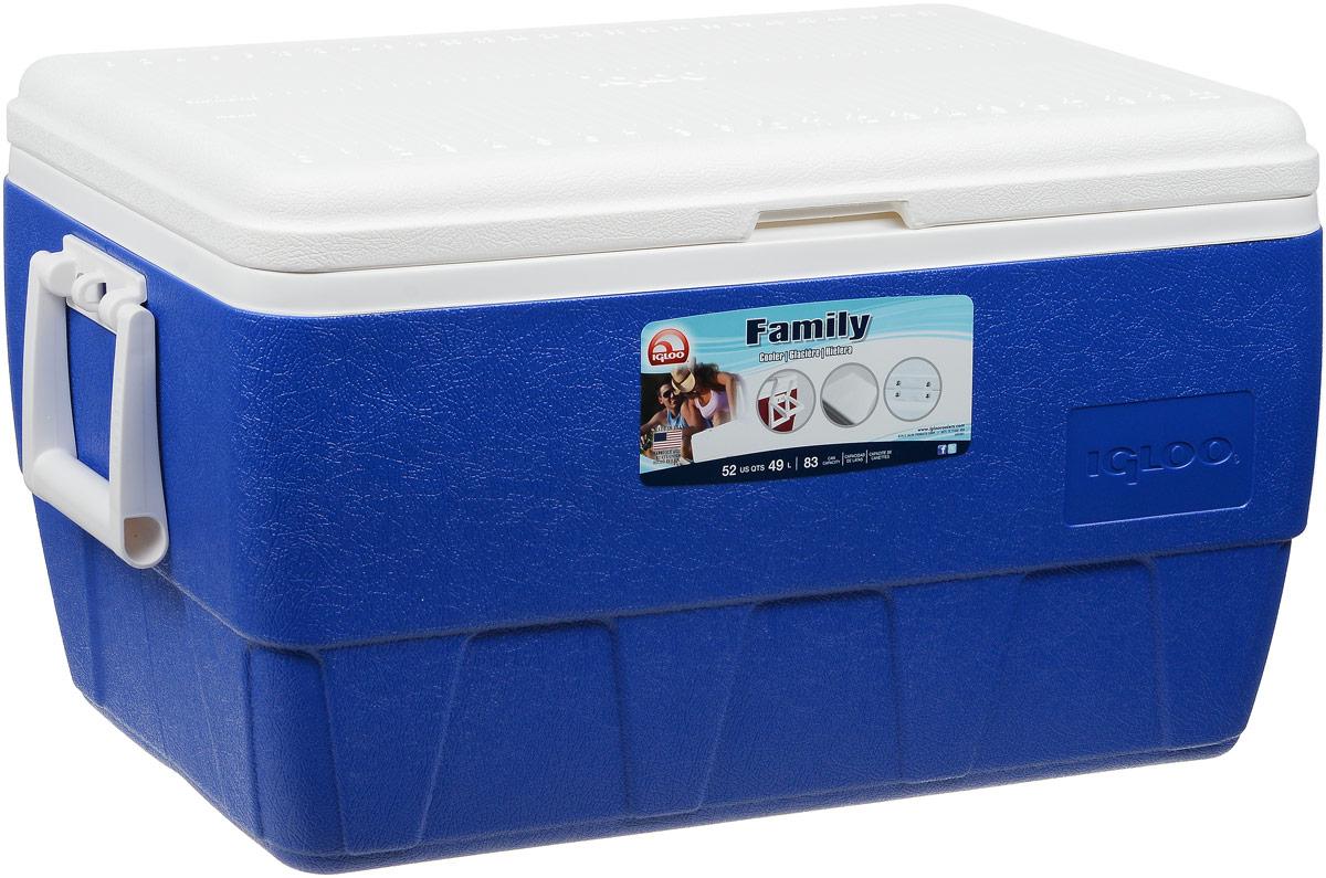 """Изотермический контейнер Igloo """"Family"""", цвет: синий, 49 л"""