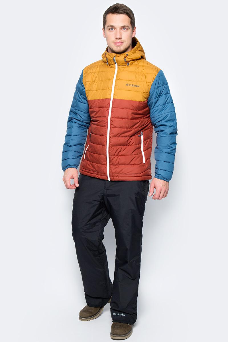 Куртка муж Columbia Powder Lite Hooded Jacket M, цвет: кирпичный. 1693931-607. Размер S (44/46)1693931-607Мужская утепленная куртка для активного отдыха и ипользования в повседневной жизни. Изделие выполнено из ткани, обработанной водоотталкивающей пропиткой; подкладка с технологией Omni-Heat, обеспечивает идеальную терморегуляцию. Два боковых кармана на молнии, защита подбородка от замка молнии - максимум удобства при использовании данной модели.