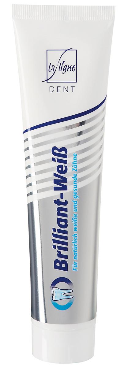 La Ligne Зубная паста Белый бриллиант, 125 мл2312Ежедневное использование лечебно-профилактической пасты не только помогает вернуть зубам безупречную белизну, но и укрепляет зубную эмаль. Мягкие абразивные микрочастицы разрушают зубной налет не повреждая поверхность зуба. Отбеливающие и очищающие компоненты удаляют потемнения от чая, кофе, вина, пожелтение от сигарет. Биоактивные ионы кальция проникают в зубную эмаль, укрепляя ее. Паста положительно влияет на состояние десен, предотвращая развитие кровоточивости.