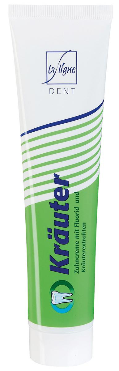 La Ligne Зубная паста с Травами, 125 мл2435Зубная паста с Травами оказывает противовоспалительное, противокариозное, повышающее резистентность зубной эмали к воздействию кислот действие. Способствует удалению зубного налета, ослабляет воспалительные процессы в ткани десен и кровоточивость (шалфей, зверобой, ратания, мирра), оказывает вяжущий эффект, способствует укреплению десен, понижает чувствительность эмали зубов к холодному и горячему, сладкому и кислому, способствует укреплению структуры зубной эмали и предупреждает развитие кариеса.