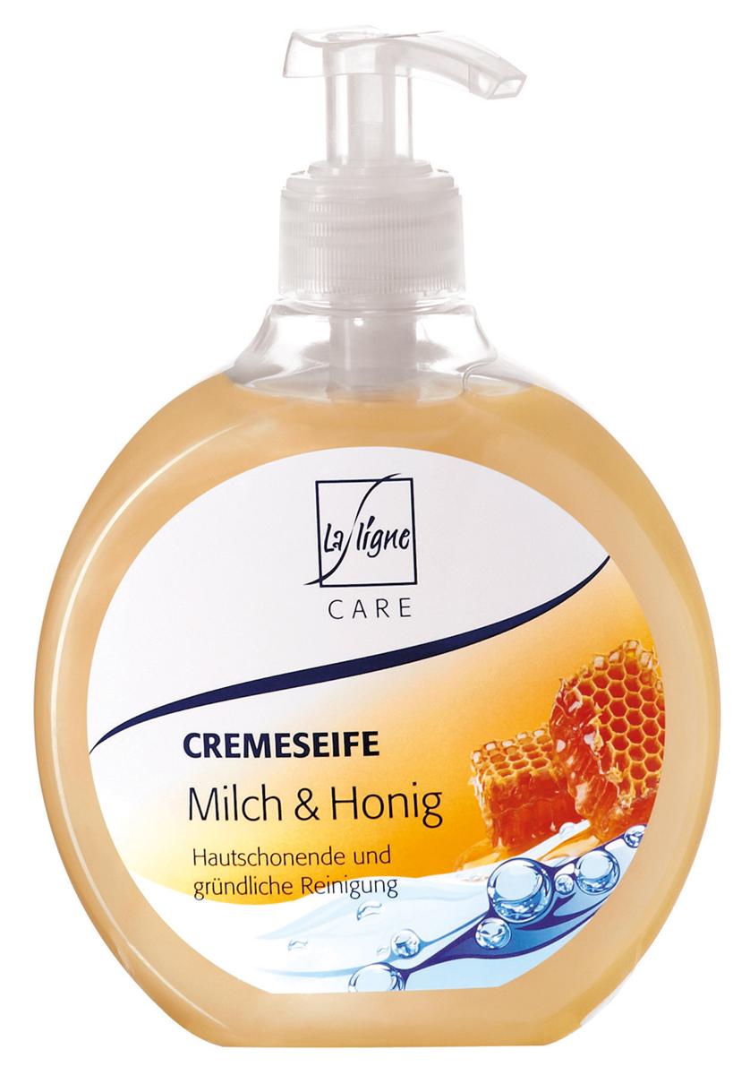 La Ligne Жидкое мыло Молоко и Мед, 500 мл806397Жидкое мыло Молоко и Мед бережно и тщательно очищает кожу рук и тела, не вызывает при этом ее сухости. Нежные, увлажняющие вещества сохраняют влагу в коже. Хорошая совместимость с коже подтверждена дерматологами- мягкие вспомогательные тензины на основе воспроизводимого сырья.