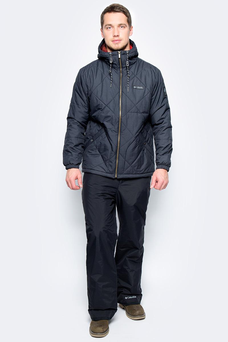 Куртка мужская Columbia Ridgestone Hooded Jacket M, цвет: черный. 1737611-010. Размер XXL (56/58)