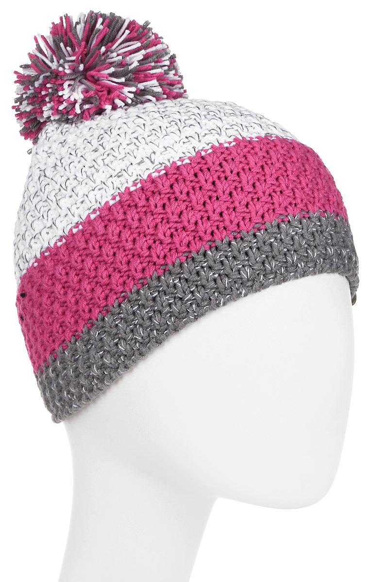 Шапка Ziener Intercontinental Hat, цвет: белый, розовый. 170053-766789. Размер универсальный170053-766789Шапка Ziener Intercontinental Hat отлично дополнит ваш образ в холодную погоду. Модель изготовлена из акриловой пряжи, что максимально сохраняет тепло и обеспечивает удобную посадку. Шапка оформлена помпоном.