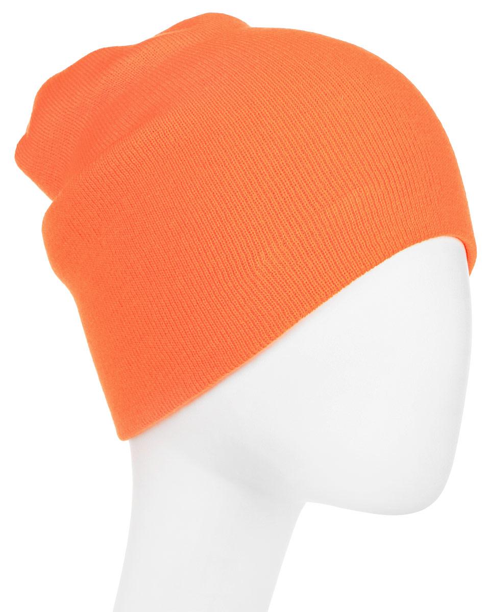 Шапка New Era Basic Long Knit, цвет: оранжевый. 11328505-ORG. Размер универсальный new era шапка new era basic long knit ne