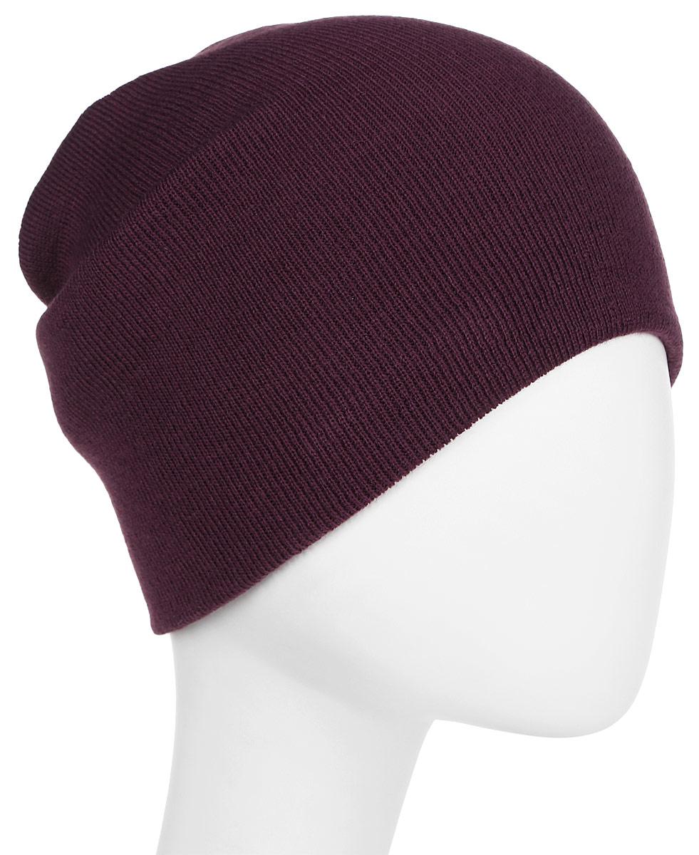 Шапка New Era Basic Long Knit, цвет: фиолетовый. 11147328-PURP. Размер универсальный11147328-PURPУдлинённая шапка с вышитым логотипом New Era. Тянущаяся ткань обеспечивает комфортную посадку.