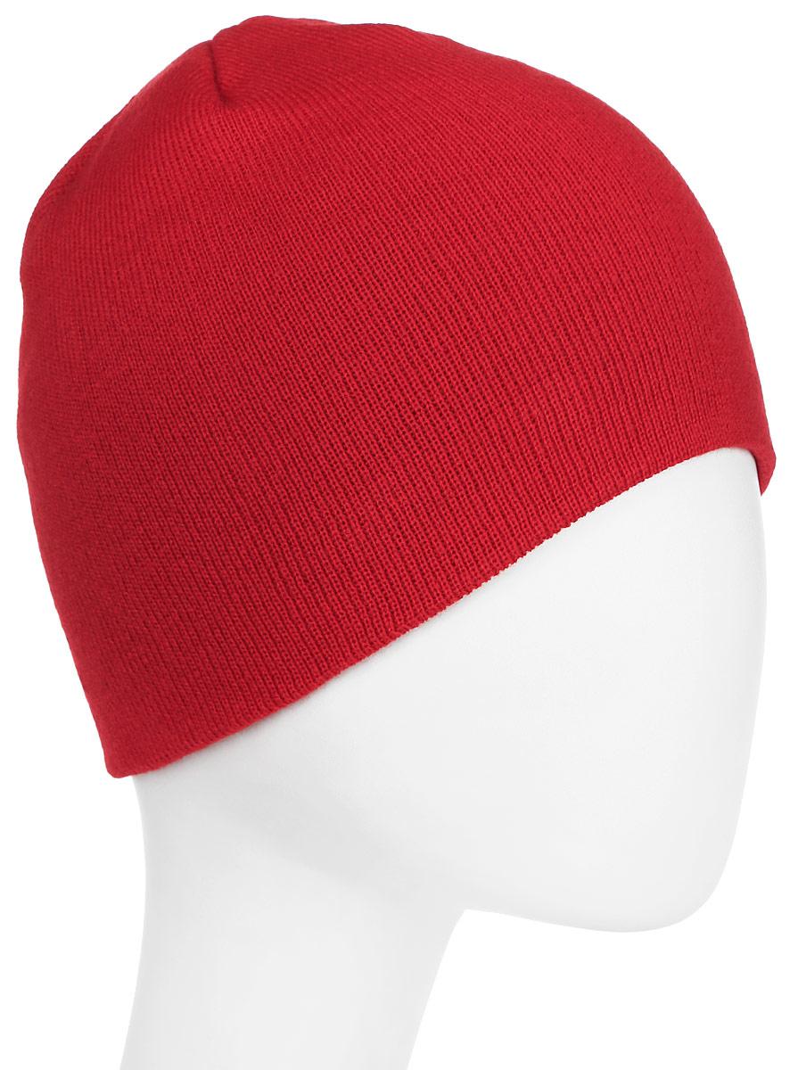 Шапка New Era Skull Knit, цвет: красный. 11277622-SCA. Размер универсальный11277622-SCAШапка с вышитым логотипом New Era. Тянущаяся ткань обеспечивает комфортную посадку.