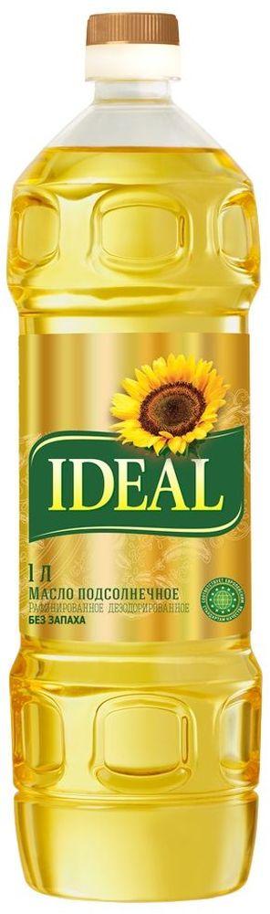 Идеал масло подсолнечное рафинированное дезодорированное, 1 л масло касторовое выдумщики рафинированное 100 мл