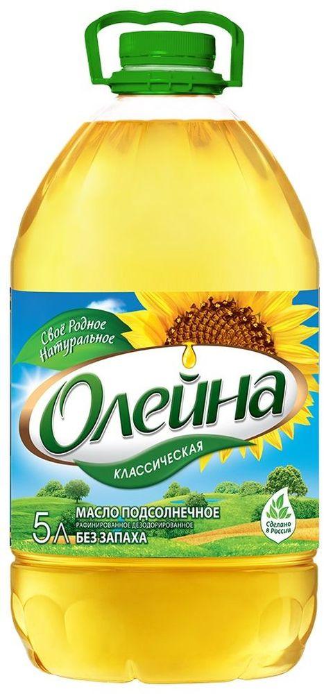 Олейна масло подсолнечное рафинированное дезодорированное, 5 л масло касторовое выдумщики рафинированное 100 мл
