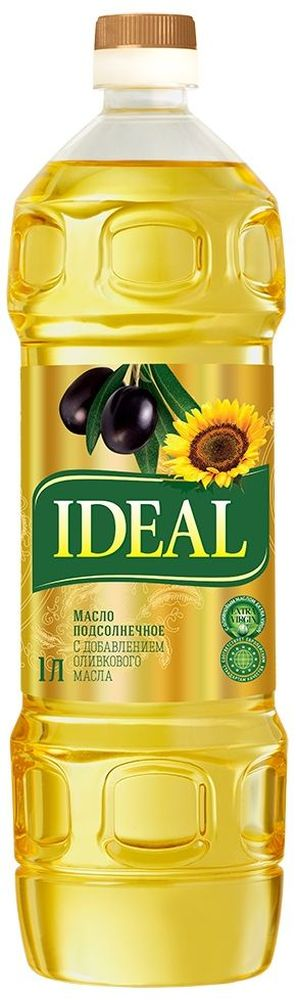 Идеал масло микс подсолнечное + оливковое, 1 л ideal id005awfxw69 ideal