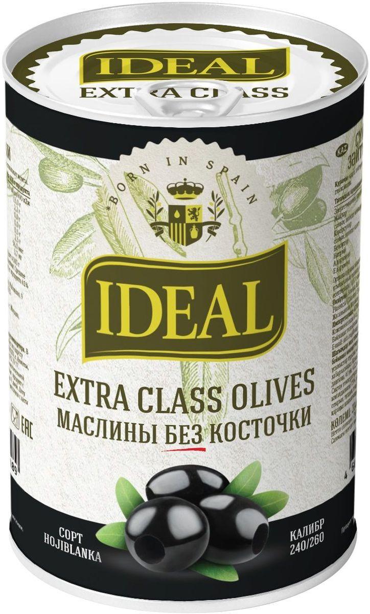 Ideal маслины без косточки extra class, 300 г ideal маслины с косточкой extra class 300 г