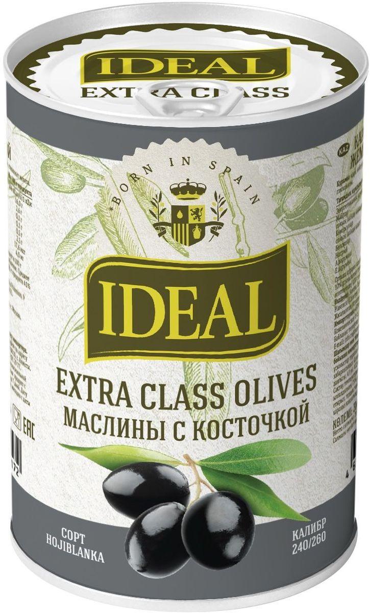 Ideal маслины с косточкой extra class, 300 г соки и напитки semper сок яблоко с 4 мес 200 мл