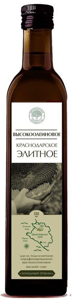 Натуральные продукты Холодная семечка высокоолеиновое масло нерафинированное, 500 мл7931