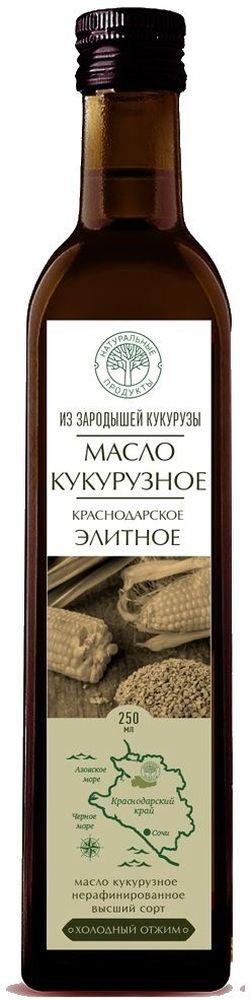 Краснодарское Элитное кукурузное масло нерафинированное, 250 мл кукурузное масло с ценой