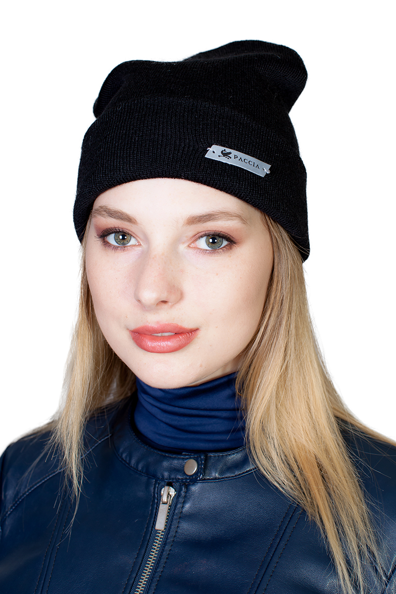 Шапка женская Paccia, цвет: черный. NR-21702-1. Размер 55/58 шапки mialt шапка