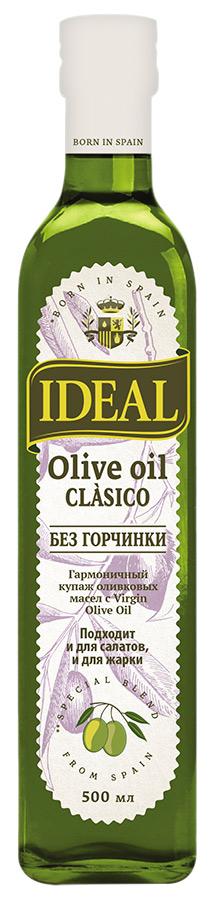 Ideal масло оливковое clasico pure, 500 мл4005IDEAL Clasico - это растительное масло высокого качества с мягким вкусом. Оно пользуется популярностью у покупателей, которые внимательно относятся к своему здоровью, выбирая натуральные и экологичные продукты.Масло IDEAL Clasico создано для настоящих ценителей вкуса. Оно имеет ярко выраженный аромат и подходит к любому блюду.В нем отсутствуют искусственные добавки и красители. Такое масло оптимально для жарки, заправки салатов (овощных, мясных, рыбных), добавления в супы и выпечки. С ним можно приготовить любое блюдо, и оно будет великолепно.Масла для здорового питания: мнение диетолога. Статья OZON Гид