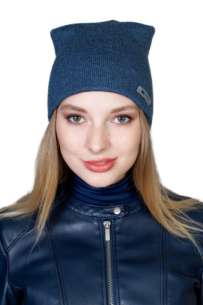 Шапка женская Paccia, цвет: синий. NR-21701-2. Размер 55/58 шапки mialt шапка