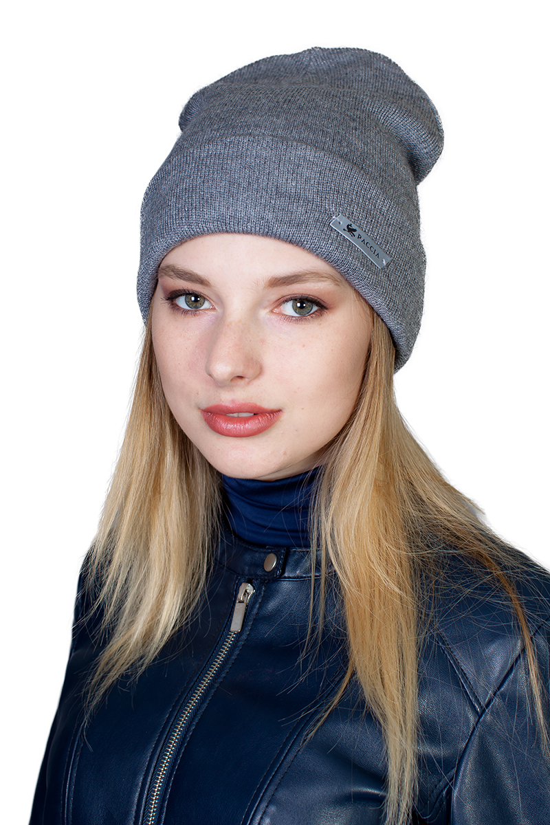 Шапка женская Paccia, цвет: серый. NR-21702-4. Размер 55/58 шапки mialt шапка