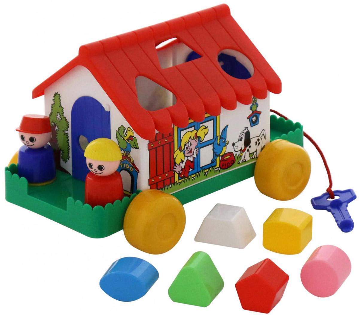 Полесье Сортер Игровой дом цвет красный каталка сортер полесье игровой дом
