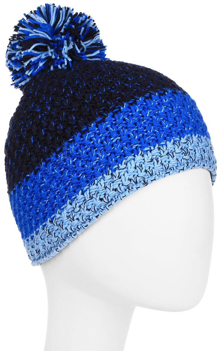 Шапка Ziener Intercontinental Hat, цвет: голубой, оранжевый. 170053-798. Размер универсальный170053-798Шапка Ziener Intercontinental Hat отлично дополнит ваш образ в холодную погоду. Модель изготовлена из акриловой пряжи, что максимально сохраняет тепло и обеспечивает удобную посадку. Шапка оформлена помпоном.
