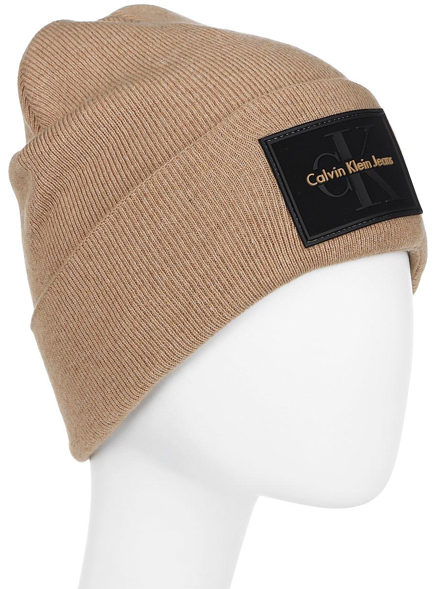 Шапка мужская Calvin Klein Jeans, цвет: коричневый. K50K503426_229. Размер универсальныйK50K503426_229