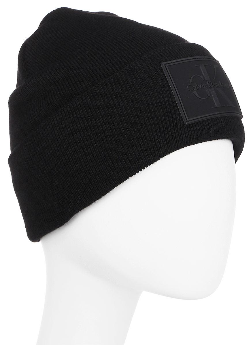 Шапка мужская Calvin Klein Jeans, цвет: черный. K50K503426_001. Размер универсальныйK50K503426_001