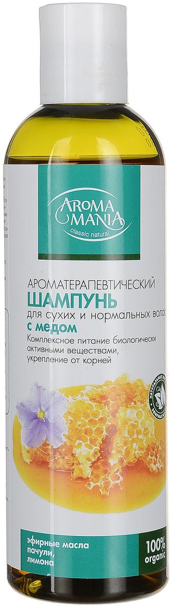 Аромамания шампунь с медом, 250 мл4747Шампунь для сухих и нормальных волосмедовый- Комплексное питание биологически активными веществами, укрепление корней, поддержание здорового баланса влажности .