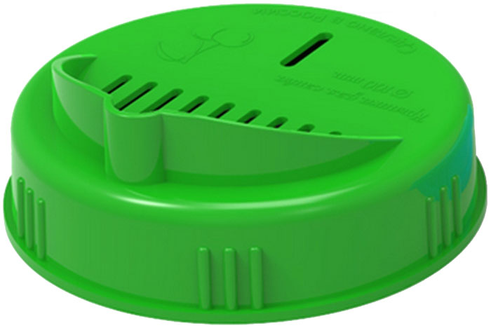 Крышка для слива жидкости из банки Libra Plast. Диаметр 10 смLP0056Крышка для слива винтовая, 100 мм