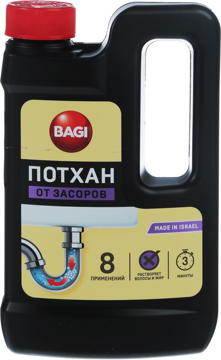 Средство для прочистки засоров в раковинах, ваннах, унитазах Bagi Потхан, 600 гH-395057-0Потхан Bagi - это гранулированное эффективное и экономичное средство для прочистки засоров в раковинах, ваннах, унитазах. Безопасен для пластиковых и металлических труб. Быстро и без остатка растворяет остатки пищи, известковый налет, бумагу, волосы и др. загрязнения.Способ применения: Удалить воду из раковины (ванны) примерно на 5 см ниже уровня сливного отверстия. Обеспечить хорошую проветриваемость помещения.Осторожно насыпать полстакана (70-100 гр) препарата в сливное отверстие, держа бутылку на вытянутой руке и отстранив голову. Добавить примерно полстакана (70-100 мл) горячей воды, также держа стакан на вытянутой руке. Подождать не более 3 минут и промыть трубу теплой проточной водой. При сильном засоре повторить действие. Регулярное применение очистителя избавит вас от проблем, связанных с механической прочисткой отстойников и труб.Меры предосторожности: Препарат не употреблять пищу!Хранить в недосягаемом для детей месте. В случае попадания в глаза, немедленно промыть проточной водой. Если Вы проглотили средство, необходимо выпить воды и немедленно обратиться к врачу!Храните препарат отдельно от других средств. Избегайте попадания на кожу. Это опасно! Характеристики: Вес: 600 г.Размер бутылки: 12 см х 3 см х 20 см.Размер упаковки: 12 см х 3 см х 20 см.Состав: гидрооксид натрия, моющие добавки.Уважаемые клиенты! Обращаем ваше внимание на то, что упаковка может иметь несколько видов дизайна. Поставка осуществляется в зависимости от наличия на складе.