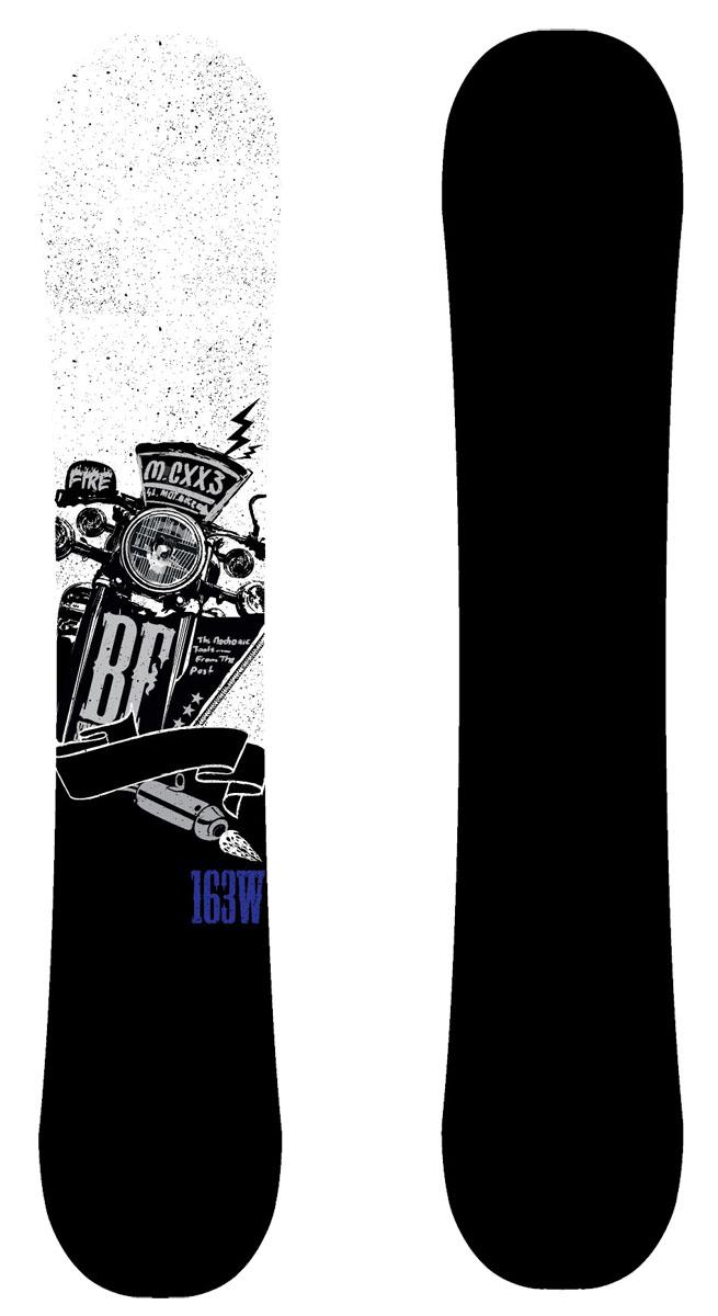 Сноуборд BF Snowboards Fire. Ростовка 160 см9333725271570Сноуборд BF Snowboards Fire - универсальная доска для совершенствующихся райдеров, с направленной геометрией. Модель, созданная как для катания на локальных склонах, так и в больших горах. Fire - это настоящий чоппер среди сноубордов. Ростовки 160, 163W подходят для людей с большим размером ноги.Прогиб: Classic Camber.Конструкция: Sandwich, Directional Twin.Сердечник: тополь.Закладные: 5х2.Кант: Steel Edge, 48HRC.Жесткость: средняя.Скользящая поверхность: Extruded.Уровень катания: прогрессирующие.
