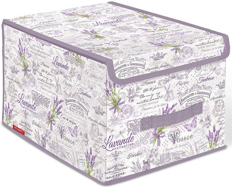 Коробка для хранения Valiant Lavande, 30 х 40 х 25 смВЛ-00000211Короб стеллажный с крышкой, большой, оформленный в стиле Lavande.