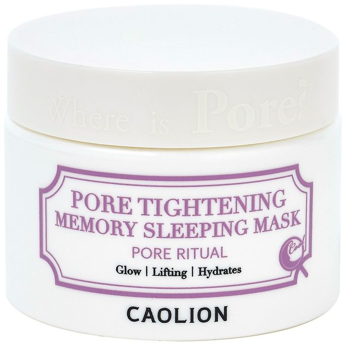 Caolion Ночная поросуживающая маска Pore Tightening Memory Sleeping Mask 50, г маска caolion pore blackhead eliminating t zone strip