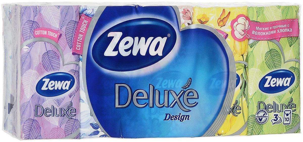 Бумажные платочки Zewa Deluxe Family, 10 х 10 шт02.03.05.51178Трехслойные носовые платочки Zewa Deluxe Family, изготовленные из целлюлозы и волокон хлопка, подходят для детей и взрослых. Удобная небольшая упаковка позволяет носить платочки в кармане. Без аромата.По 10 платков в индивидуальной упаковке, которая имеет несколько вариантов дизайна. Количество: 10 х 10 шт. Размер платка: 21 см х 21 см.Уважаемые клиенты! Обращаем ваше внимание на возможные изменения в дизайне упаковки. Качественные характеристики товара остаются неизменными. Поставка осуществляется в зависимости от наличия на складе.