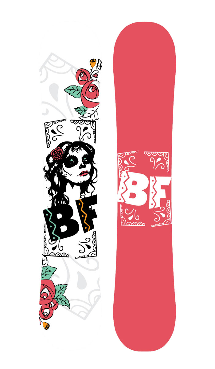 Сноуборд BF Snowboards  Special Lady Black Rose . Ростовка 146 см - Сноубординг