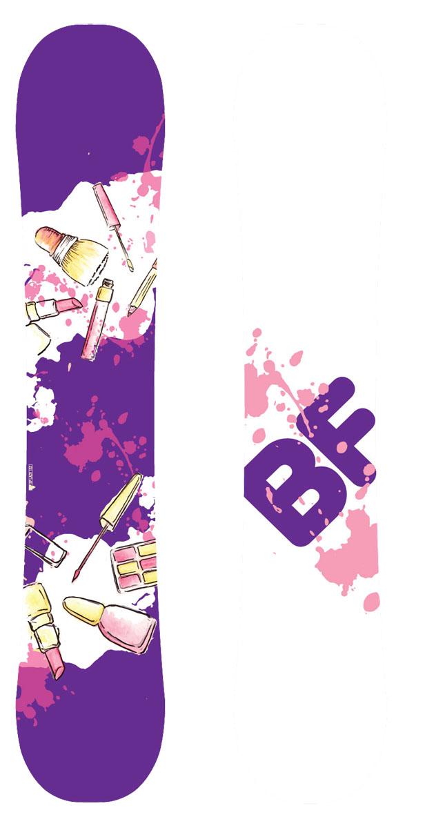 Сноуборд BF Snowboards Special Lady Lipstick. Ростовка 138 см9333725271686Доска BF Snowboards разработана специально для девушек, которые хотят кататься с легкостью. На этом сноуборде хорошо учиться кататься и прогрессировать! Геометрия универсала позволит с легкостью кататься по ухоженным трассам и дает возможность выезжать все трасс. Узкая талия сделают перекантовки проще-простого! Прогиб: Classic Camber.Конструкция: Sandwich, Directional Twin.Сердечник: тополь. Закладные: 4х2.Кант: Steel Edge, 48HRC. Жесткость: средняя.Скользящая поверхность: Extruded.Уровень катания: начинающий/продолжающий.