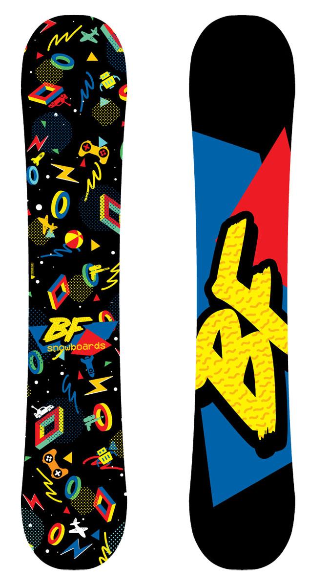 Сноуборд BF snowboards Techno. Ростовка 110 смGothic 1213163Сноуборд BF Snowboards Techno - это воплощение мечты любого мальчишки. Деревянный сердечник как у взрослых моделей. Сноуборд имеет структуру CAP, которая облегчает вес доски и позволяет делать первые трюки маленькому сноубордисту. Прогиб: Classic Camber.Конструкция: Full Cap, Twin Tip.Сердечник: тополь.Закладные: 3х2.Кант: Steel Edge, 48HRC.Жесткость: средняя.Скользящая поверхность: Extruded.Уровень катания: начинающий/продолжающий.Как выбрать сноуборд. Статья OZON Гид