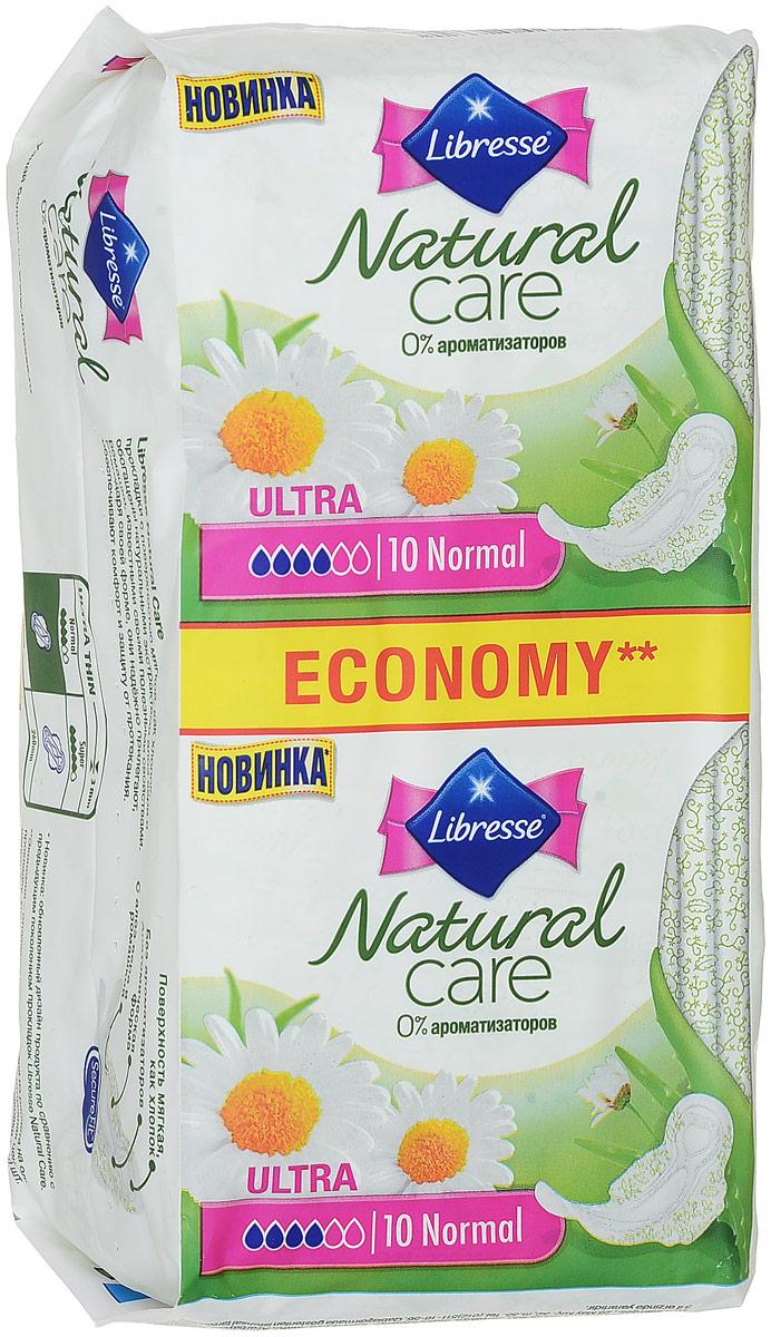 Libresse Гигиенические прокладки Natural Care Ultra. Normal, с крылышками, с мягкой поверхностью, 2 х 10 шт libresse maxi normal wing 10