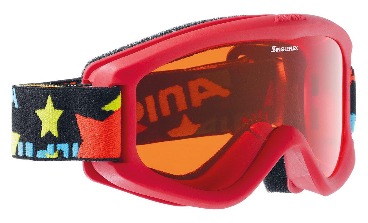Очки горнолыжные Alpina CARVY 2.0 SH black/ stars (carvy 2.0)A7076451Комфортная детская горнолыжная маска, оснащённая однослойной оранжевой линзой высокой контрастности