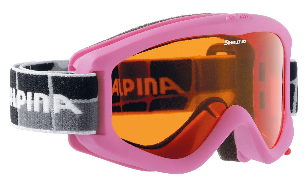 Очки горнолыжные Alpina Carvy 2.0 SH, цвет: черный, белый, лиловый alpina горнолыжные очки alpina carvy 2 0 sh lime slt s2 slt s2