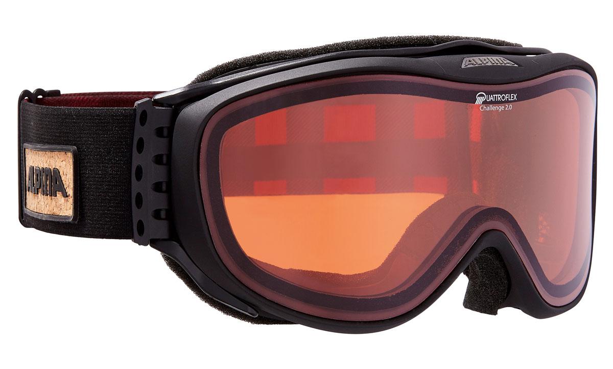 Очки горнолыжные Alpina Challenge 2.0 QH, цвет: черный, красныйA7092033Поляризационная линза Quattroflex Hicon с специальным покрытием против механических повреждений:-ударопрочные;-100% от ультрафиолетового A-B-C излучения до 400нм;-антизапотевающее внутреннее покрытие;-жесткое покрытие;-термальная защита;-поляризационные линзы для увеличения контрастности;-уровень защиты S2.Технологии: Применение особых пенистых покрытий позволяет добиться циркуляции воздушных потоков внутри корпуса. Воздушные потоки уменьшают влажность для предотвращения запотевания оптики.Соединение ремня и внешней части оправы осуществляется при помощи гибких крюков. Данные элементы делают ношение еще более удобным, особенно со шлемом.Специальные выемки на внутренней части оправы создают дополнительное внутренне пространство, специально для возможности ношения очков с диоптриями.Особые пластиковые элементы в области лба и щек, образующие крестообразную структуру, в купе с гибким элементами у переносицы, позволяют адаптироваться к индивидуальным особенностям лица. Данная технология позволяет добиться исключительного комфорта и исключает неприятные ощущения при длительном ношении.