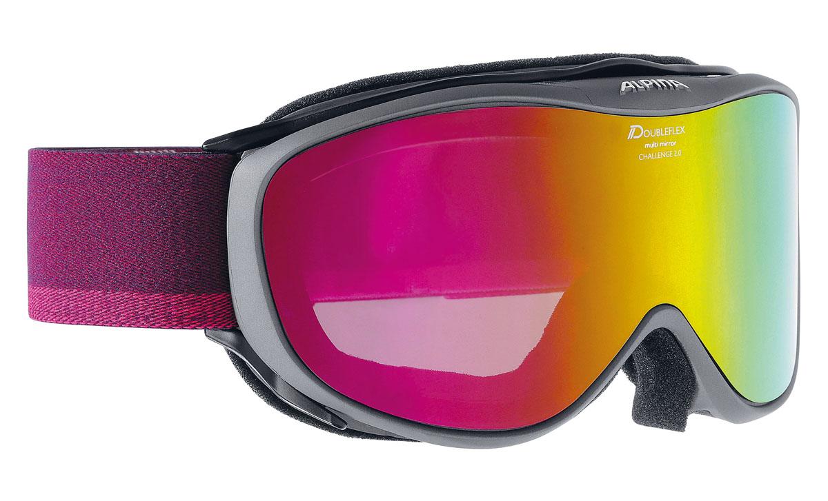 Очки горнолыжные Alpina Challenge 2.0 MM, цвет: фиолетовый, белыйA7095835Легкая горнолыжная маска с хорошим обзором-100% защита от УФ А-В-С до 400 нм-Гибкая и комфортная оправа плотно и равномерно прилегает к лицу-Шарнирные проушины для ремешка позволяют надёжно и комфортно зафиксировать маску на любом, даже