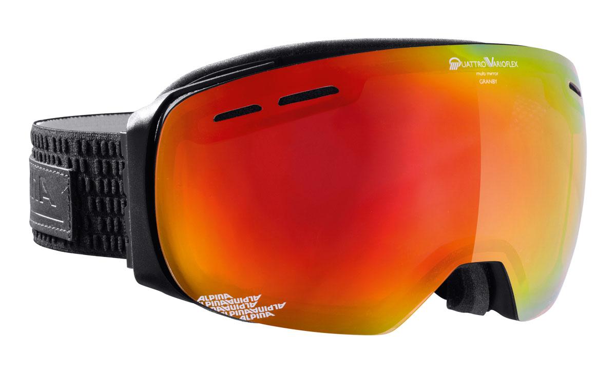 Очки горнолыжные Alpina Granby QVMM, цвет: черный, белый, оранжевыйA7211732Модная модель с безрамочной оправой, сферической линзой и широким углом обзора. Доступна с тремя различными линзами в ярких и сочных цветах.Применение особых пенистых покрытий позволяет добиться циркуляции воздушных потоков внутри корпуса. Воздушные потоки уменьшают влажность для предотвращения запотевания оптики.Особое ребристое покрытие на внутренней части ремня исключает сползания с оптики.Соединение ремня и внешней части оправы осуществляется при помощи гибких крюков. Данные элементы делают ношение еще более удобным, особенно со шлемом.Для некоторых моделей была разработана специальная панорамная линза, для обеспечения широкого угла зрения, более 180 градусов, по требованиям стандартов CE. Увеличенное поле зрения способствует лучшему восприятию опасностей на склоне.Вентиляционные отверстия в самой линзе создают направленные воздушные потоки, опоясывающие внутреннею сторону линзы, что эффективно предотвращает запотевание.Линза изогнутой формы способствует лучшему зрительному восприятию и увеличивает внутренний объем, оптимизируя вентиляцию.