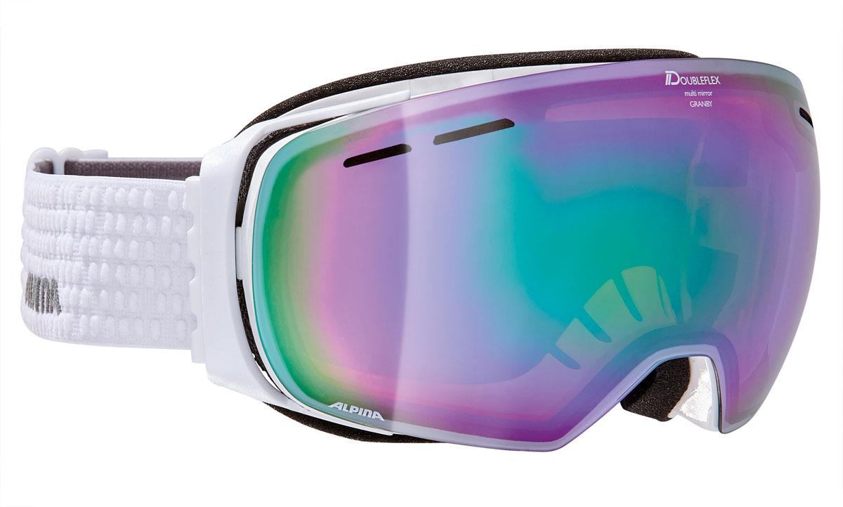 Очки горнолыжные Alpina GRANBY MM white/grey (white dots) (M50)A7213811Компактная горнолыжная маска с широким углом обзора, для применения в условиях переменной облачности и неяркого солнца.-100% защита от УФ А-В-С до 400 нм-дизайн маски позволил радикально расширить поле зрения райдера без значительного увеличения размеров линзы-Сферическая линза дополнительно увеличивает поле зрения и исключает оптические искажения-Гибкая и комфортная оправа плотно и равномерно прилегает к лицу-Шарнирные направляющие для ремешка позволяют надёжно и комфортно зафиксировать маску на шлеме -Антифог покрытие снижает риск запотевания маски-На ремешок нанесены полоски из силикона, которые не дают ему скользить по шлему или шапке-По контуру оправы расположены вентиляционные порты-В линзе расположены дополнительные вентиляционные отверстия, которые улучшают циркуляцию воздуха и снижают риск запотевания маски-Двойная линза с зеркальным покрытием Multi MirrowЧто взять с собой на горнолыжную прогулку: рассказывают эксперты. Статья OZON Гид