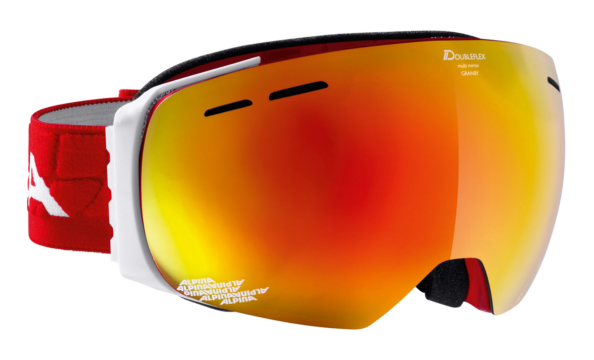 Очки горнолыжные Alpina GRANBY MM Race red/white (M50)A7213852Компактная горнолыжная маска с широким углом обзора, для применения в условиях переменной облачности и неяркого солнца.-100% защита от УФ А-В-С до 400 нм-дизайн маски позволил радикально расширить поле зрения райдера без значительного увеличения размеров линзы-Сферическая линза дополнительно увеличивает поле зрения и исключает оптические искажения-Гибкая и комфортная оправа плотно и равномерно прилегает к лицу-Шарнирные направляющие для ремешка позволяют надёжно и комфортно зафиксировать маску на шлеме -Антифог покрытие снижает риск запотевания маски-На ремешок нанесены полоски из силикона, которые не дают ему скользить по шлему или шапке-По контуру оправы расположены вентиляционные порты-В линзе расположены дополнительные вентиляционные отверстия, которые улучшают циркуляцию воздуха и снижают риск запотевания маски-Двойная линза с зеркальным покрытием Multi Mirrow