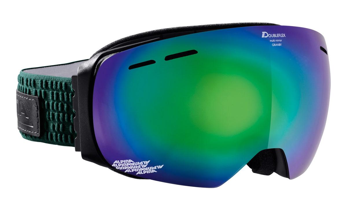 Очки горнолыжные Alpina Granby MM, цвет: зеленый, белыйA7213873Компактная горнолыжная маска Alpina с широким углом обзора и сферическими линзами, для применения в условиях переменной облачности и неяркого солнца.-100% защита от УФ А-В-С до 400 нм.-Дизайн маски позволил радикально расширить поле зрения райдера без значительного увеличения размеров линзы.-Сферическая линза дополнительно увеличивает поле зрения и исключает оптические искажения.-Гибкая и комфортная оправа плотно и равномерно прилегает к лицу.-Шарнирные направляющие для ремешка позволяют надежно и комфортно зафиксировать маску на шлеме.-Антифог покрытие снижает риск запотевания маски.-На ремешок нанесены полоски из силикона, которые не дают ему скользить по шлему или шапке.-По контуру оправы расположены вентиляционные порты.-В линзе расположены дополнительные вентиляционные отверстия, которые улучшают циркуляцию воздуха и снижают риск запотевания маски.-Поляризованная двойная линза Quattroflex со стильным зеркальным покрытием Multi Mirrow.