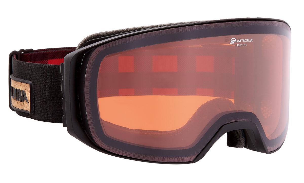 Очки горнолыжные Alpina ARRIS QH black/black-red (Lumberjack ) (б/р)A7223031Новая, легкая, обзорная горнолыжная маска. Линзы устойчивые к появлению царапин, с антизапотевающим покрытием. термопокрытие линз предотвращает проникновение холода и оптимизирует защиту от запотевания. система высокой контрастности обеспечивает четкое изображение и яркость. система вентиляции Turbo. гнущаяся оправа. выступающая верхняя часть оправы для максимального комфорта при соприкосновении с лицом. система крепления: мягкая широкая регулируемая резинка. маска идеальна для ношения со шлемом.