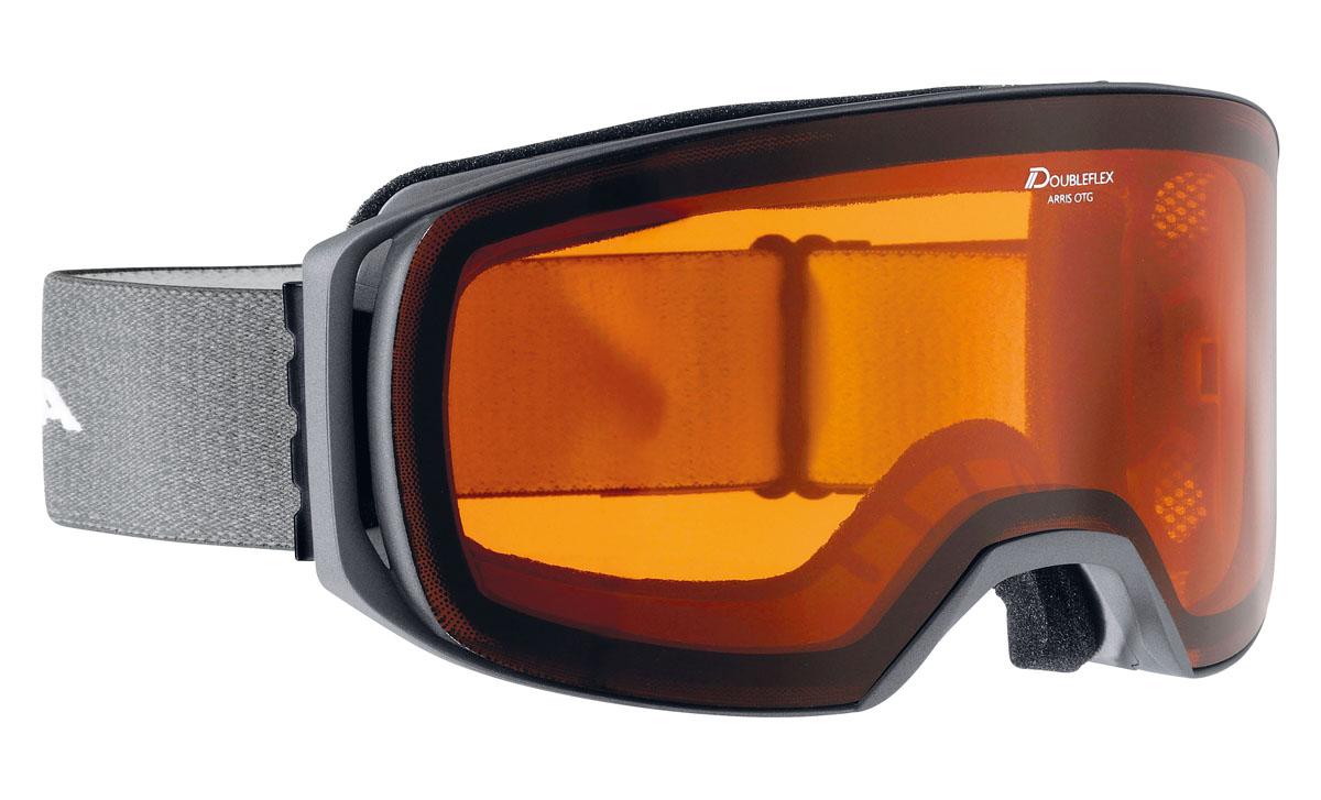 Очки горнолыжные Alpina Arris DH, цвет: серый, белыйA7230111Новая, легкая, обзорная горнолыжная маска Alpina. Линзы устойчивые к появлению царапин, с антизапотевающим покрытием. термопокрытие линз предотвращает проникновение холода и оптимизирует защиту от запотевания. система высокой контрастности обеспечивает четкое изображение и яркость. система вентиляции Turbo. гнущаяся оправа. выступающая верхняя часть оправы для максимального комфорта при соприкосновении с лицом. система крепления: мягкая широкая регулируемая резинка. маска идеальна для ношения со шлемом. Очки Alpina оснащены линзой Quattroflex:- 100% защиты от ультрафиолетового излучение UVA, UVB и UVC. Предотвращает/защищает от повреждений сетчатки.- Противотуманное покрытие предотвращает/защищает от запотевания линз.- Теплоизоляция предоставляет оптимальный обзор за счет особенностей изоляционного материала.- Термоблок - воздушная подушка размещается между внутренней и внешней линзами и защищает их от замерзания или запотевания.- Высококонтрастная поляризованная система максимально поглощает рассеянный свет, обеспечивает безбликовый обзор/видение и повышает безопасность за счет цветоотдачи. Контрастность повышена на 30%.- Уровень защиты S2 Технологии:Комфорт.- Airframe Venting System - оптимизирует циркуляцию воздуха внутри очков - Comfort Frame - для повышенной комфортности без точек давления.- FogStop - покрытие линзы, предотвращающее запотевание.- Venting Frame - позволяет воздуху проникать внутрь очков, предотвращая запотевание линз.Эргономика.- Over The Glasses - позволяет без проблем надевать обычные диоптрийные очки под маску.- 180+ View - обзорность до 180 градусов.- Hinge Band - ремешок маски крепится к оправе гибкими резиновыми скобами.- Skid Grip - предотвращает соскальзывание ремешка со шлема.