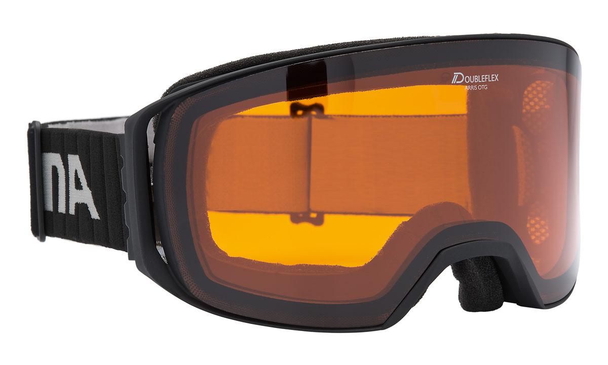 Очки горнолыжные Alpina Arris DH, цвет: черныйA7230131Новая, легкая, обзорная горнолыжная маска Alpina. Линзы устойчивые к появлению царапин, с антизапотевающим покрытием. термопокрытие линз предотвращает проникновение холода и оптимизирует защиту от запотевания. система высокой контрастности обеспечивает четкое изображение и яркость. система вентиляции Turbo. гнущаяся оправа. выступающая верхняя часть оправы для максимального комфорта при соприкосновении с лицом. система крепления: мягкая широкая регулируемая резинка. маска идеальна для ношения со шлемом. Очки Alpina оснащены линзой Quattroflex:- 100% защиты от ультрафиолетового излучение UVA, UVB и UVC. Предотвращает/защищает от повреждений сетчатки.- Противотуманное покрытие предотвращает/защищает от запотевания линз.- Теплоизоляция предоставляет оптимальный обзор за счет особенностей изоляционного материала.- Термоблок - воздушная подушка размещается между внутренней и внешней линзами и защищает их от замерзания или запотевания.- Высококонтрастная поляризованная система максимально поглощает рассеянный свет, обеспечивает безбликовый обзор/видение и повышает безопасность за счет цветоотдачи. Контрастность повышена на 30%.- Уровень защиты S2 Технологии:Комфорт.- Airframe Venting System - оптимизирует циркуляцию воздуха внутри очков - Comfort Frame - для повышенной комфортности без точек давления.- FogStop - покрытие линзы, предотвращающее запотевание.- Venting Frame - позволяет воздуху проникать внутрь очков, предотвращая запотевание линз.Эргономика.- Over The Glasses - позволяет без проблем надевать обычные диоптрийные очки под маску.- 180+ View - обзорность до 180 градусов.- Hinge Band - ремешок маски крепится к оправе гибкими резиновыми скобами.- Skid Grip - предотвращает соскальзывание ремешка со шлема.